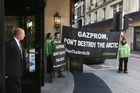 Gazprom Protest at European Gas Conference in Brussel
