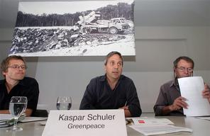 Toxics Campaign Press Conference Bonfol Landfill in Basel