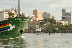Arctic Sunrise Joins the 'Our Power Puerto Rico' Campaign