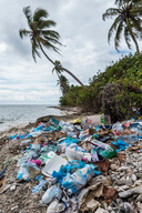 Garbage on the Beach at Addu Atoll in Maldives