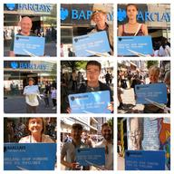 Collage of Volunteers in Manchester Ask Barclays Bank Not to Fund Oil Pipelines