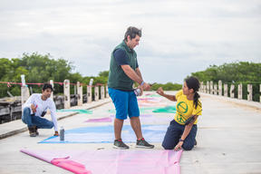 Activists Denounce Plastic Pollution at Riviera Maya Sanctuary in Mexico