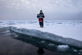 Mya-Rose Craig Holds Most Northerly Climate Strike in the Arctic