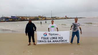 Defend the Amazon Reef Protest (Global Day of Action) in Imbé, Brazil