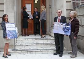 Delivery of Arctic Declaration to Embassies in London