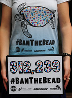 Microbeads Petition Box and T-shirt in London