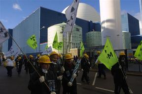 Action at Sizewell Nuclear Power Plant in UK