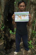 Indigenous Man with Forestry Map in Central Kalimantan
