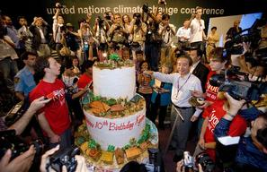 Birthday Cake at UN Climate Conference