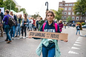 Climate Strike in The Hague, Netherlands