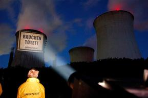 Projection Action on Power Plant in Germany