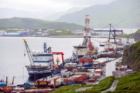 Shell Oil Exploration Vessels at Unalaska