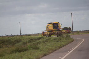 Tractor by Soybean Plantation in the Brazilian Cerrado, Amapá State
