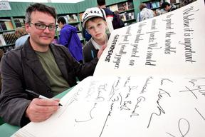 Charlie Higson supports Book Campaign in UK