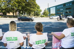 Activists in Helsinki Demand Action to Save the Amazon