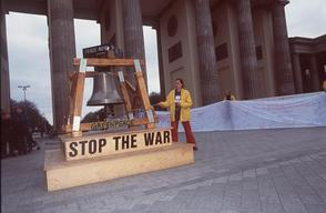 Peace Banner against Iraq War in Germany