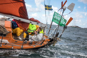 Rainbow Warrior Joins Sailing Protest against Oil Refinery Expansion in Sweden