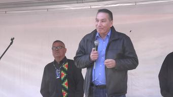 Protect the Pacific March in Canada - Réal MacKenzie, Matimekush Chief (Soundbite)