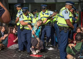 Blockade of New Zealand's Largest Oil Industry Conference