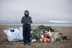 Trash Clean up on Arctic Beach in Svalbard