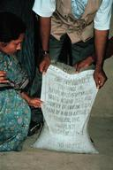 Looking at Bag of Hazardous Fertilizer, Bangladesh