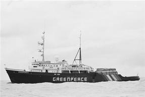 Greenpeace Sailing Ship MV Greenpeace During Campaign Against Nuclear Testing