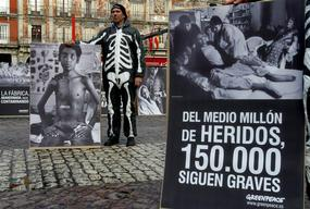 Action to Commemorate Bhopal held in Madrid