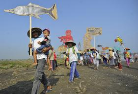 Coal Power Plant Protest in Indonesia