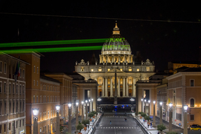 """Planet Earth First"" Projection in Rome"